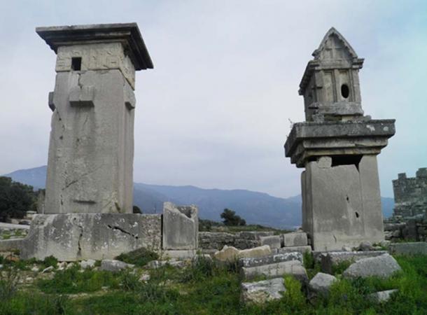 Lycian Monumental tombs, Xanthos.