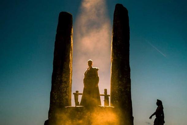 MacKenzie Crook as head Druid Veran in Britannia. (Sky Atlantic)
