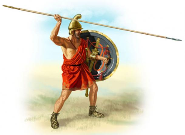 Macedonian sarissa. The sarissa is much longer then the spears used by the Greeks. (Bucephala / Public Domain)