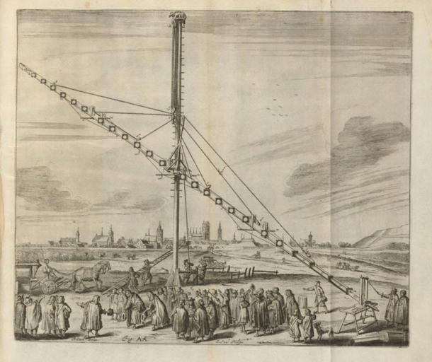 Fig. AA from Machinae coelestis, 1673, by Johannes Hevelius. (1611-1687)