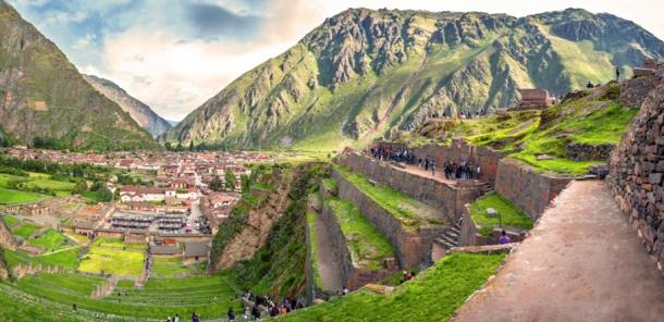 Machu Picchu, the old Inca fortress, in the Sacred Valley is already overrun with tourists