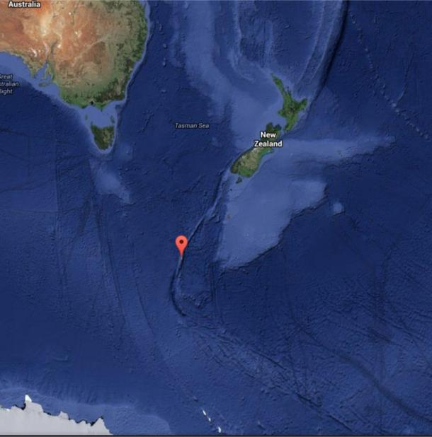 Google Maps screenshot of the real Macquarie Island