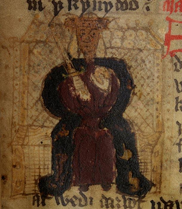 Macsen Wledig in a fifteenth-century copy of Geoffrey of Monmouth's manuscript.