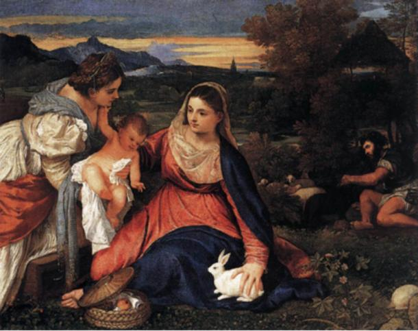 The Madonna of the Rabbit by Titian, 1530