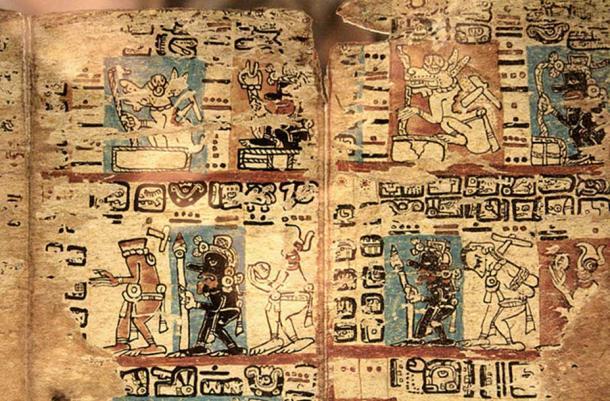 Madrid Codex. Maya Codex also known as Tro-Cortesianus. Origin unknown, Epoch: Late Postclassic Maya