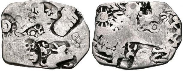 Magadha kingdom coin, circa 350 BC. (CNG Coins/CC BY-SA 3.0)