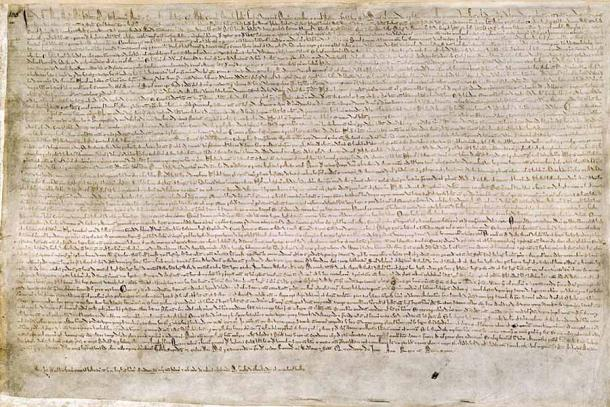 Copy of the Magna Carta held at the British Library (Earthsound / Public Domain)