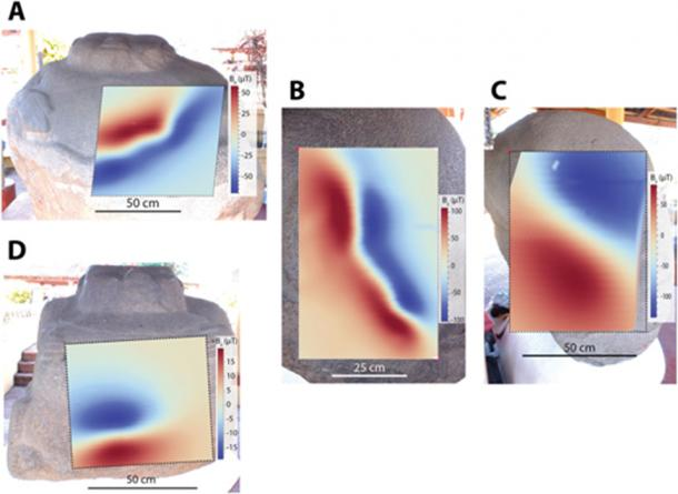 Magnetic anomalies on 'Potbellies' at Monte Alto (Roger R. Fu et al. 2019)