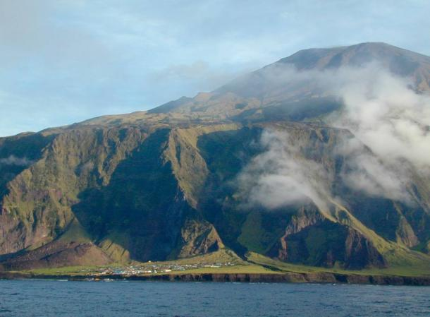 The Main Settlement on Tristan da Cunha