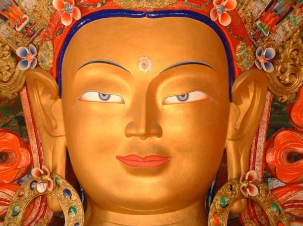 Maitreya, with a developed third eye
