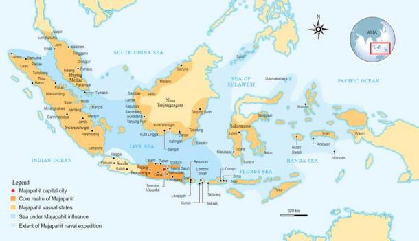 Location of Majapahit Empire