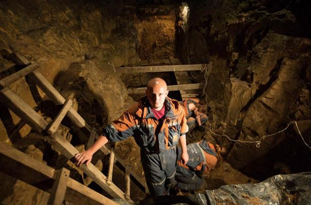 Maksim Kozlikin, a research fellow of Institute of Archaeology and Ethnography, part of the Siberian Branch of the Russian Academy of Sciences gave us a tour of the cave.