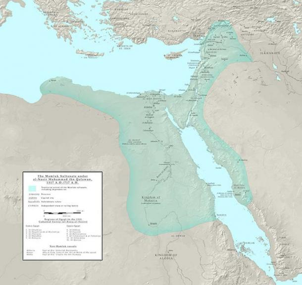 Location of Mamluk Sultanate of Egypt.