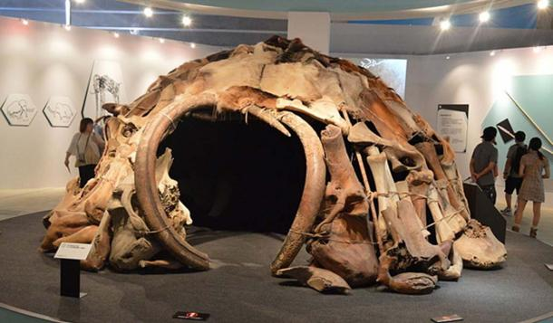 """Mammoth House"" as shown at the ""Frozon Woolly Mammoth Yuka Exhibit"" in Yokoyama, Japan in Summer 2013."