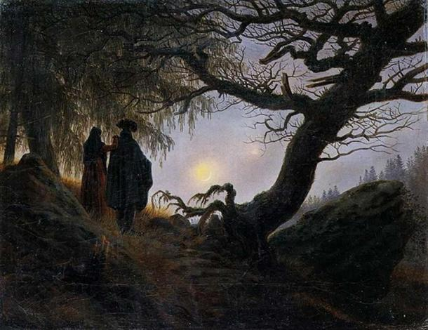 'Man and Woman contemplating the moon' (1818/1824) by Caspar David Friedrich.