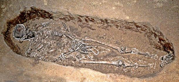 Man in an Upper Paleolithic burial in Sunghir, Russia