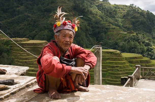Man of the Ifugao tribe in traditional costume.