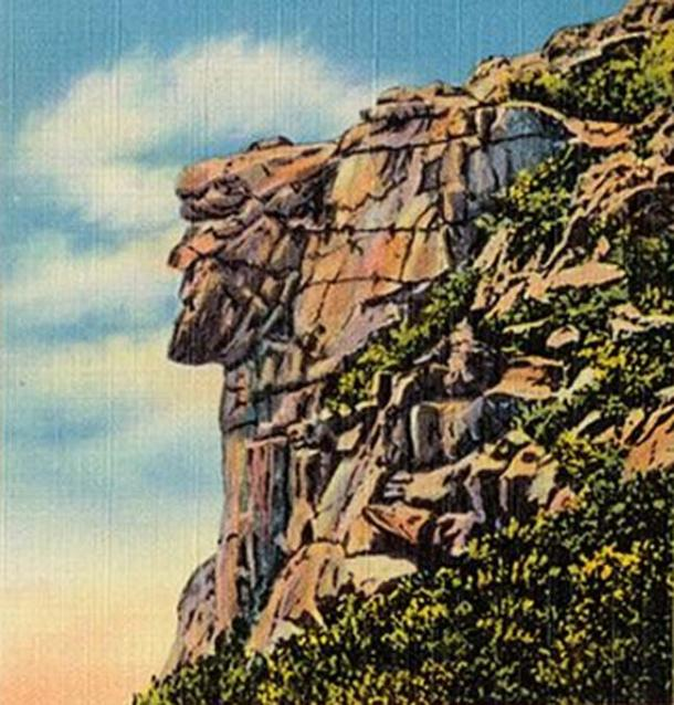 Old Man of the Mountain, New Hampshire.