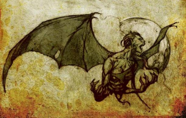 Manananggal, mythical creature of the Philippines. (Public Domain)