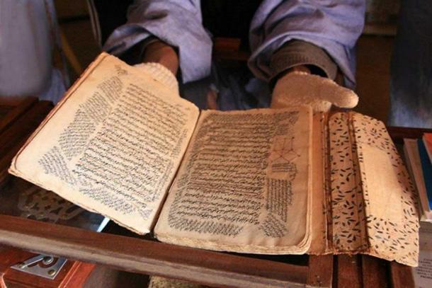 Manuscript in a private library in Chinguetti.