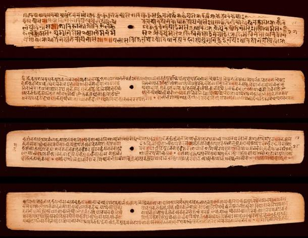 Manuscript of the Naradasmrti which documents the ordeal of rice