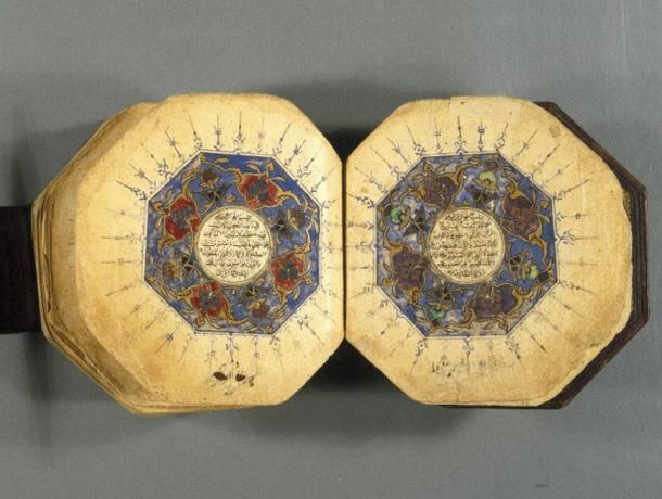 Manuscript of the Quran in the Brooklyn Museum, USA.