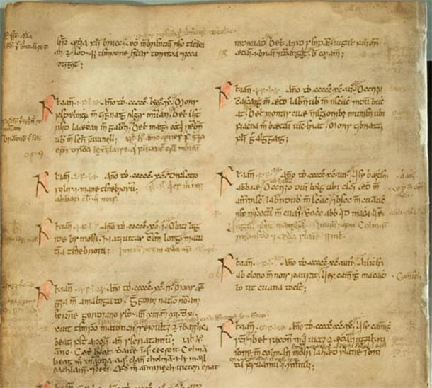 Manuscript of the Annals of Ulster 500–1000AD