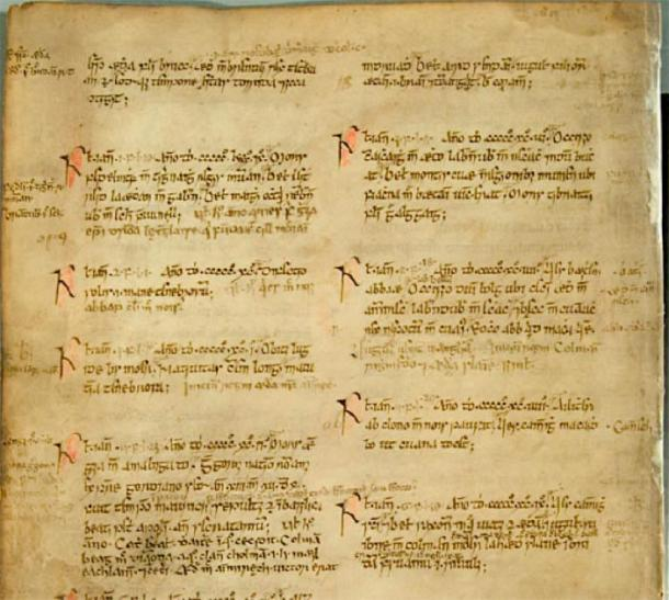 Manuscript of the Annals of Ulster. (Frukost the Viking / Public Domain)