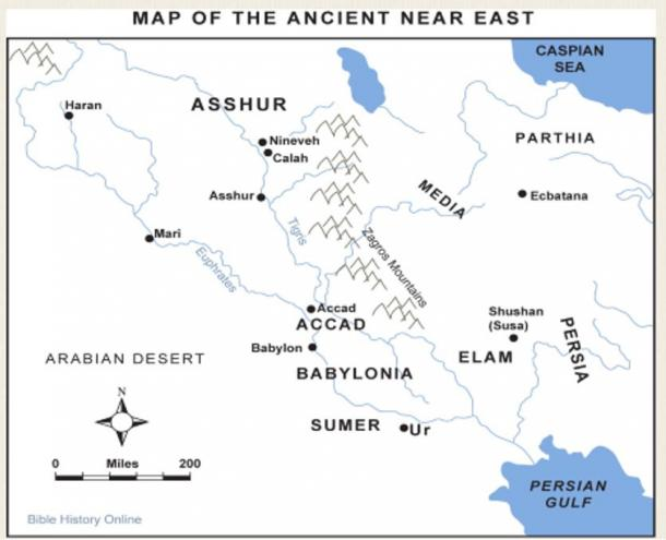 Map credit:  Bible History Online