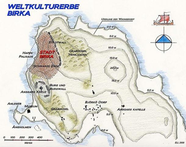 Map of Birka.