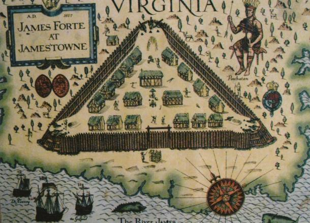 Map of Jamestown Fort (1677)