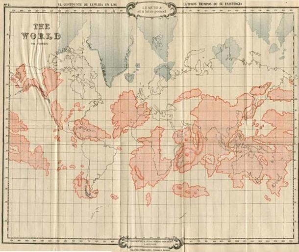 Map of Lemuria according to William Scott-Elliott