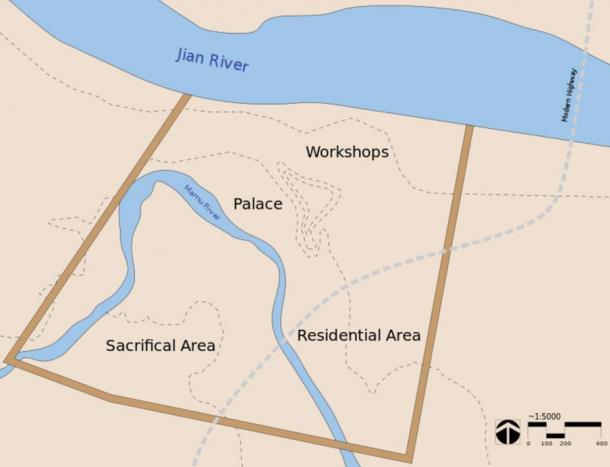 Map of Sanxingdui