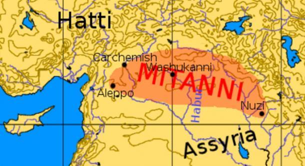Map of ancient Mitanni