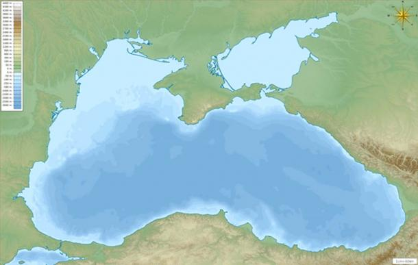 Map of the Black Sea