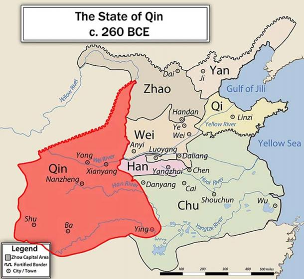 Map of the Growth of Qin. (CC BY-SA 3.0)