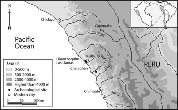Map of the north coast of peru showing the extent of the chimú state and the geographic location of the huanchaquito-las llamas site. (© 2019 Gabriel Prieto et al / Plos ONE)