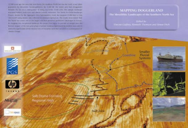 """""""Mapping Doggerland"""" part of the North Sea Palaeolandscapes Project, published in 2008"""
