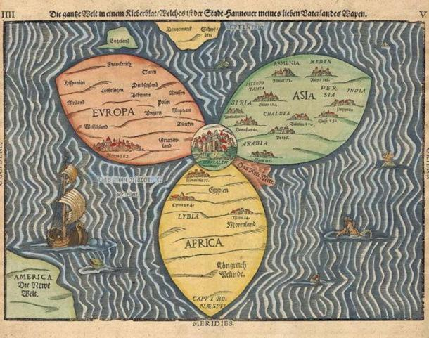 Maps from the Middle Ages placed Jerusalem at the center of the earth.