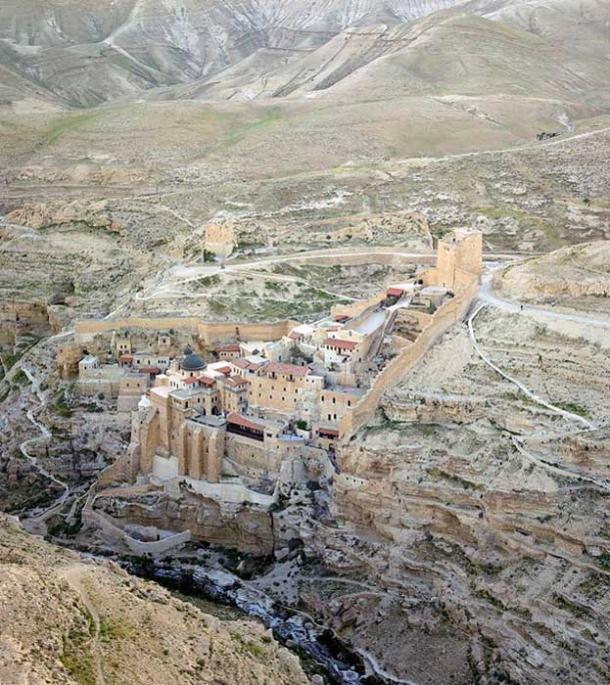 Mar Saba seen from the air.