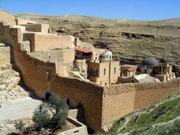 Mar Saba seen from a distance.