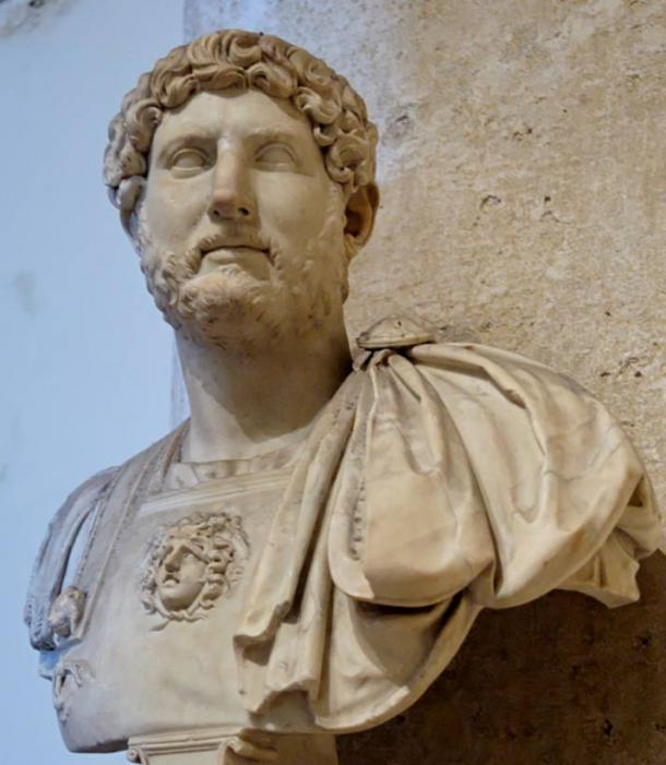 Marble bust of Hadrian at the Palazzo dei Conservatori.