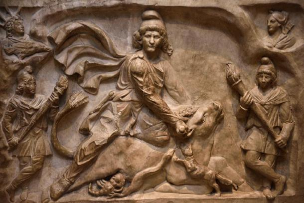 Marble carving of the god Mithras, slaying a mystic bull. (Reimar / Adobe Stock)