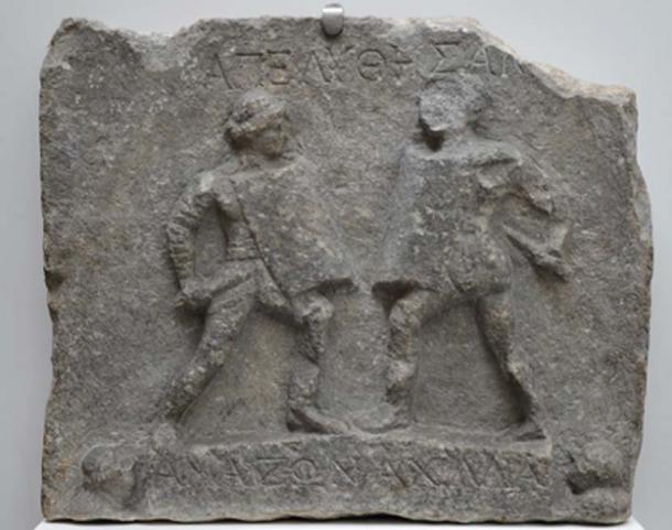 Marble relief showing Amazon gladiators. (Carole Raddato / CC BY-SA 2.0)