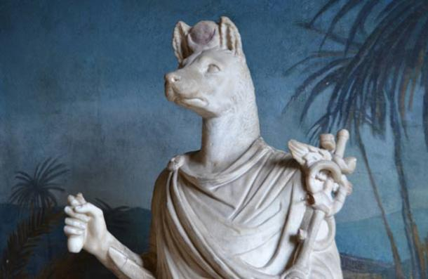 Marble statue of Anubis, Vatican Museum