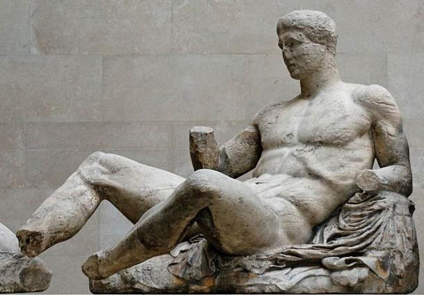"""Marble statue of """"Heracles"""", attributed to Phidias"""