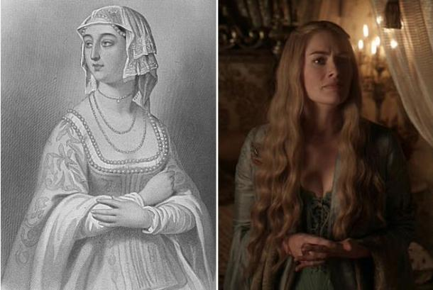Margaret of Anjou (Wikimedia Commons) compares with Cersei Lannister (EyesOnFire89/Flickr)