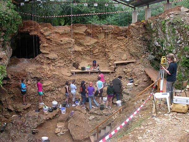 Marillac-le-Franc archaeological site, France.