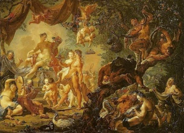 'Marriage of Aphrodite and Hephaestus' by Johann Georg Platzer. (Public Domain)