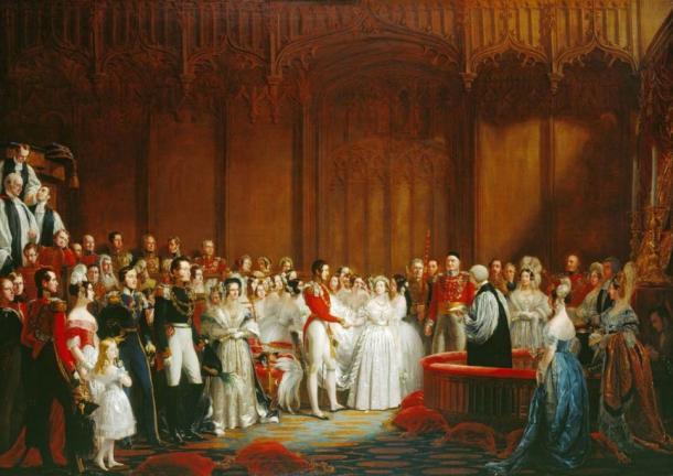 Marriage of Victoria and Prince Albert, 1840.